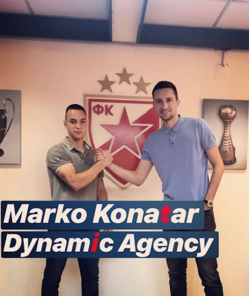 Marko Konatar pens his first professional contract with Red Star